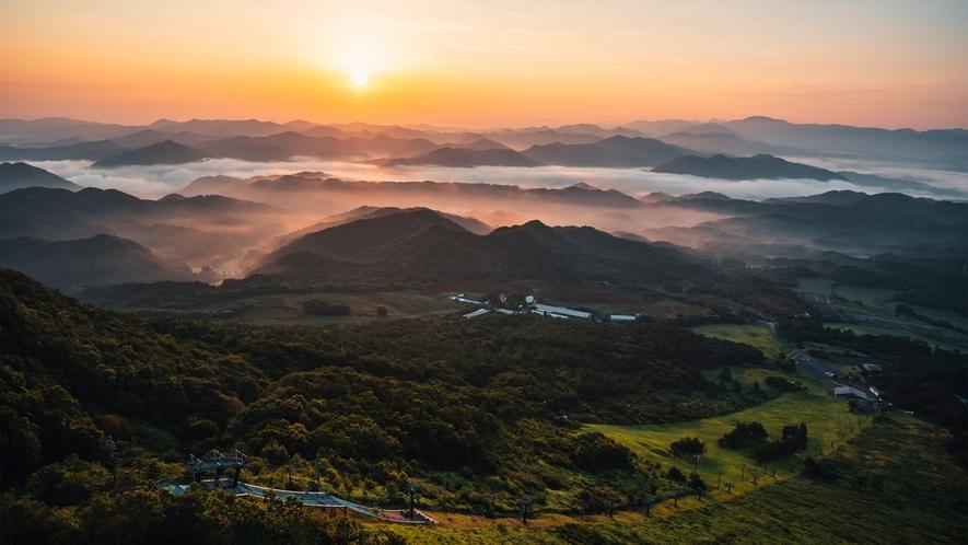 天空の朝ごはん ドローン撮影