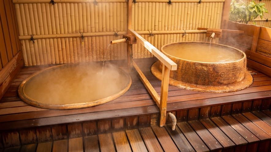奥側 露天風呂 釜・羽釜風呂