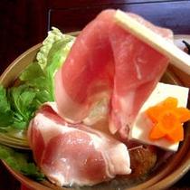 一般夕膳のあっさり豚しゃぶ(イメージ)