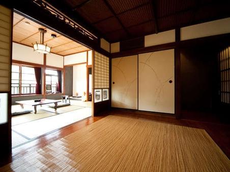 母屋客室A【和室+板間の二間続き】川沿いの部屋
