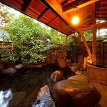大浴場露天風呂【岩魚の湯】夜24:00迄、朝6:30より