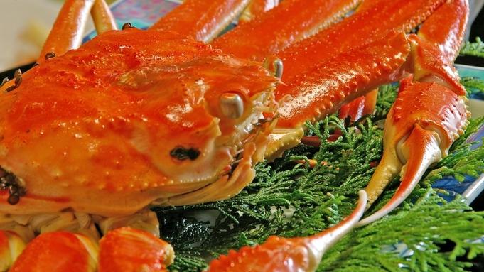 【越前蟹+舟盛り】大きな茹で蟹と新鮮な海の幸を舟盛りでご提供◎