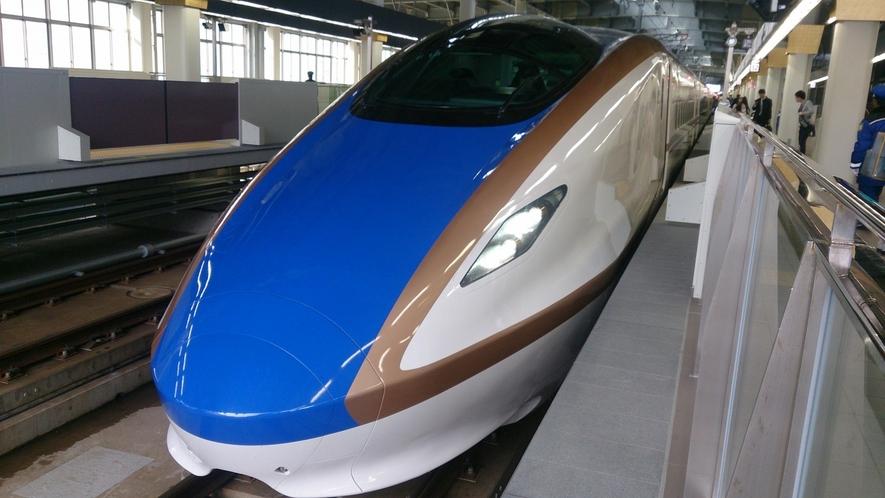 北陸新幹線で東京から2時間半でつきます!