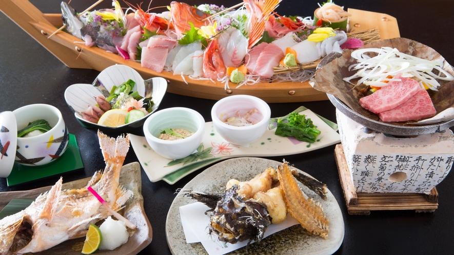 テーブルには一品一品心を込めて調理したお料理が並びます。