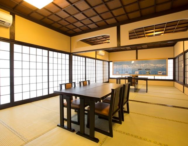 宴会場、1部屋ずつ区切って夕食場所としてご利用いただきます。