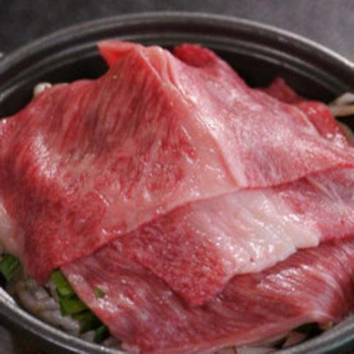 やわらかい氷見牛の鍋物。
