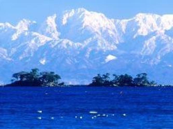 氷見海岸から立山連峰