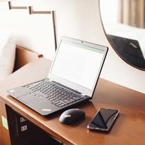 【部屋】お仕事やSNSにも便利!全室に無料Wi-Fiを完備。