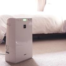 【部屋】各部屋には、空気清浄機も設置しております。