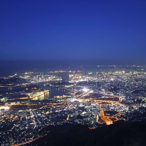 【周辺】標高622mから「100億ドルの夜景」を眺めることができる皿倉山。