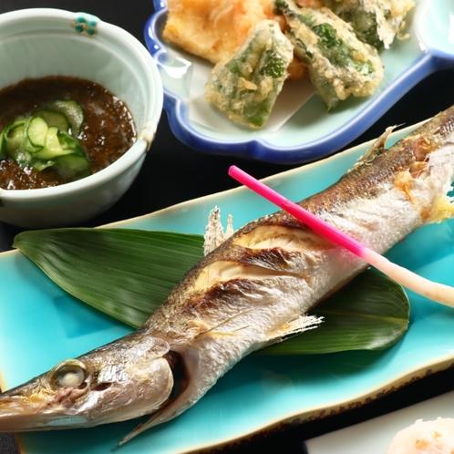 *夕食一例◆焼き物~かます塩焼~焼き物~かます塩焼~