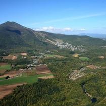 【周辺】羊蹄山から眺めるアンヌプリ。