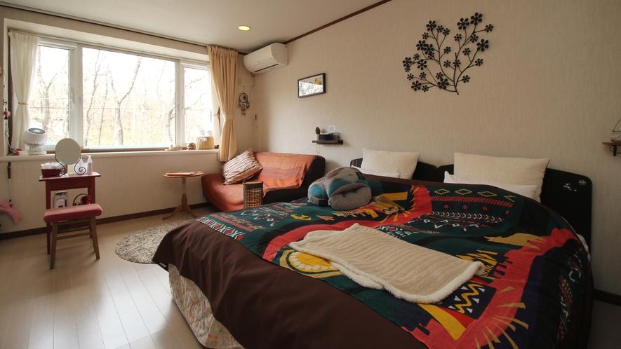 【203】悠々キング_北欧アジア風なオシャレな部屋に♪悠香里一番人気のお部屋