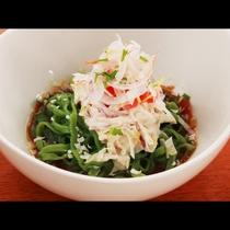 夕食_自家製ひすい麺!リピーター一番人気のおすすめ料理!