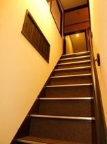 2階への階段です