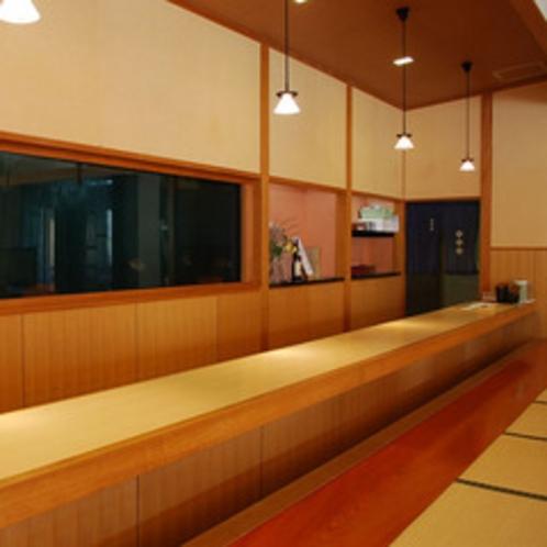 食事処「名水亭」カウンター