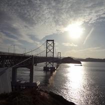 当館からすぐ!鳴門海峡大橋★うずしおも観ていかれてはどうでしょう