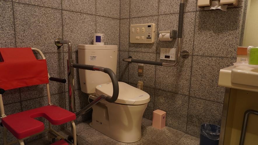 【和洋室】バリアフリー設計のバス・トイレです。