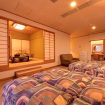 【和洋室】広々とした空間で大人数にも対応。贅沢旅をお約束
