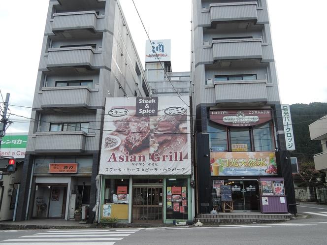 東武日光の駅前です。