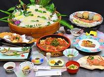 夏の白浜夕景菜食コース