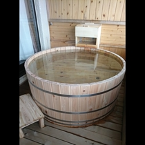 和洋室の新しい露天風呂
