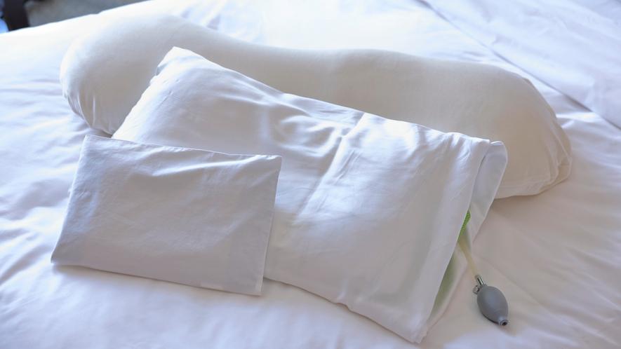 枕は11種類のピローメニューより、お好みのものを選ぶことができます。