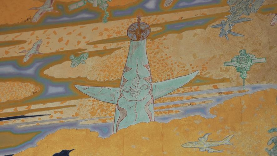 大阪を代表する太陽の塔のイラストも。