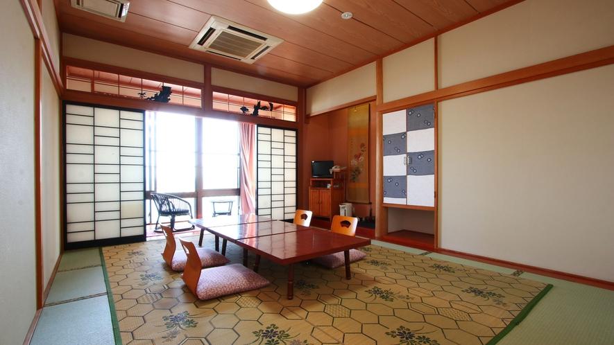 【豊】和室10畳。有明海の見えるお部屋です♪