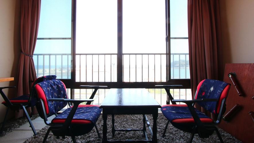【朝日】有明海が一望できるお部屋です♪