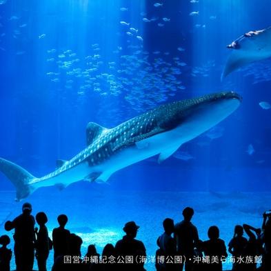 【美ら海水族館チケット付】☆感動体験☆ジンベイザメに会いに行こう!クラブハウスロッジ(朝食付)
