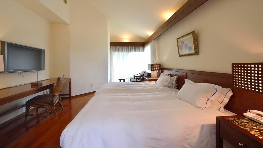 【デラックスコテージ】1棟に2ベットルーム&リビング&広々バスルームを完備