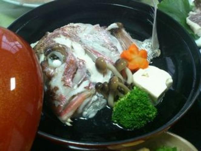 鯛の骨蒸し