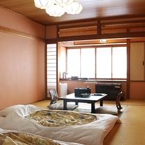 【☆一般客室棟☆】本館は全客室お布団をご用意してお待ちしております。ご入室時からお寛ぎ下さい。