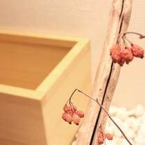 檜葉の香りを愉しめるバスルーム