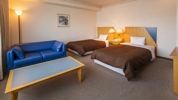 ◆洋室ツイン・里山側◆リピーターに人気の客室◇34平米/禁煙