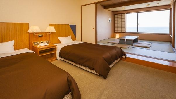 ★和洋室ツイン・海側★当館で一番人気の客室◇48平米〜/禁煙