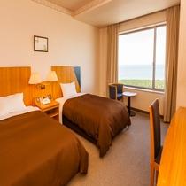 ◆洋室ツイン・海側◆ホテル飛鳥で一番眺めの良い客室◇24平米