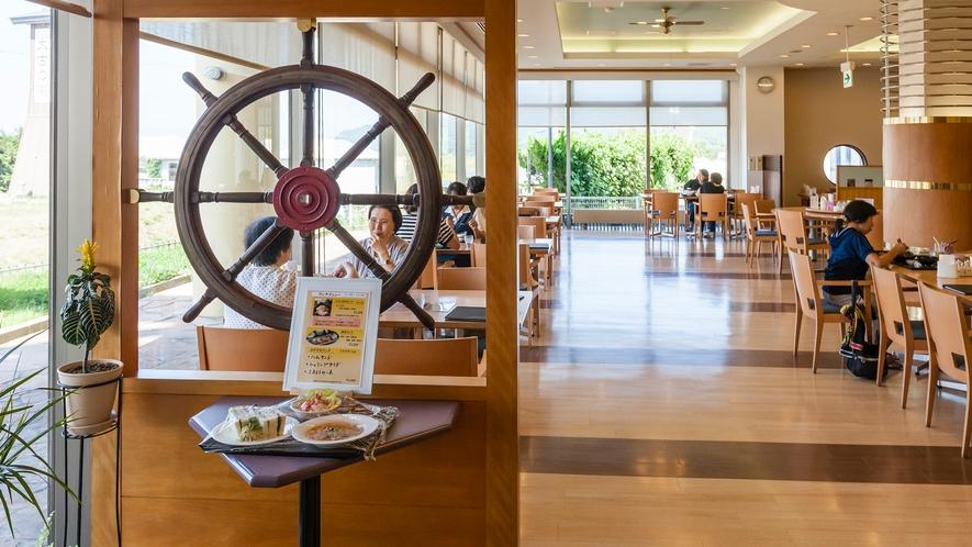 レストラン波止場 船の舵輪