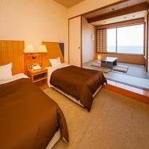 ★和洋室ツイン・海側★ホテル飛鳥で一番人気の客室◇48平米