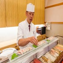 レストラン「波止場」 寿司カウンター