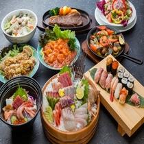 レストラン「波止場」料理。和・洋・中と幅広いメニューをお楽しみいただけます。