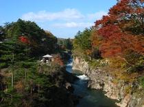 秋の厳美渓