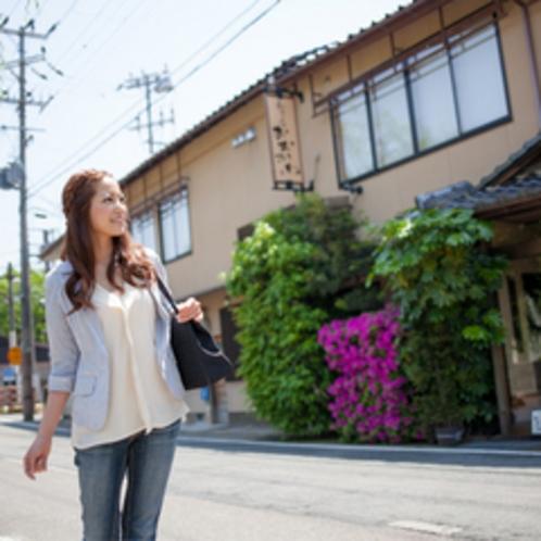 大川旅館へ