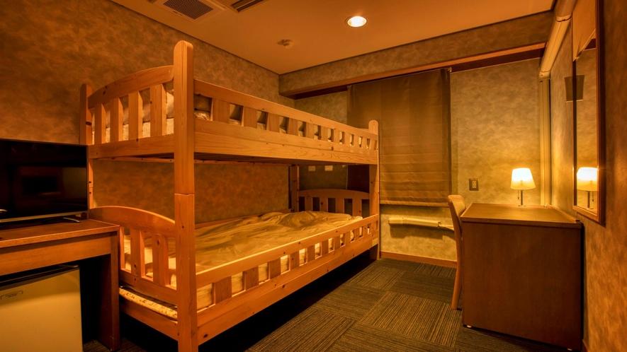 エコノミー 二段ベッド ※客室の一例