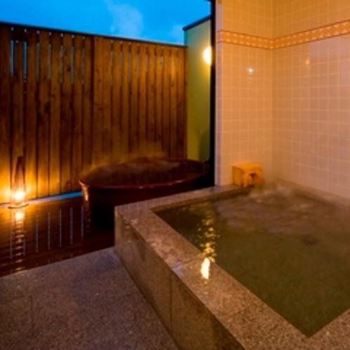 客室露天風呂&内風呂 一例