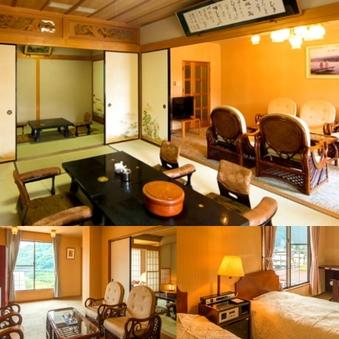特別室(和室10畳+6畳+ツインルーム+リビング)