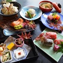 秋の献立【秋鮭味噌バター正油焼】と【赤城牛と岩魚の炙り寿司】