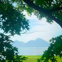 *【洞爺湖】洞爺湖町から眺める美しい洞爺湖の風景。