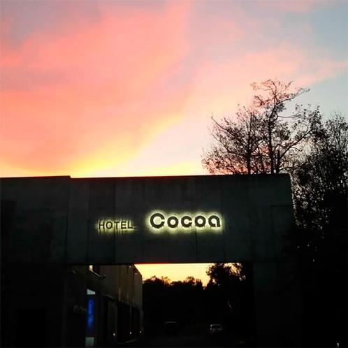 *【周辺景色】こんな綺麗なピンク色の夕焼けを見られることも☆